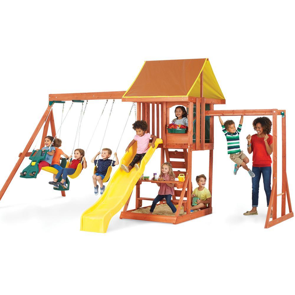 Cedarbrook Cedar Playset