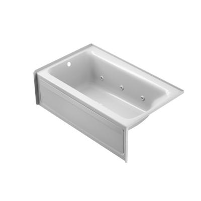PROJECTA 60 in. x 36 in Acrylic Right-Hand Drain.Rectangular Alcove Whirlpool Bathtub in White