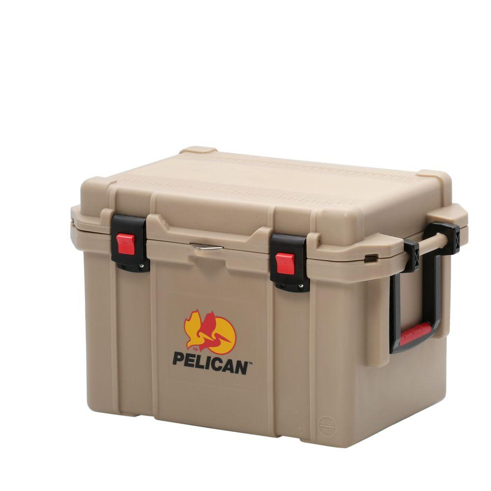 Pelican 45 Qt. Tan Elite Marine Cooler