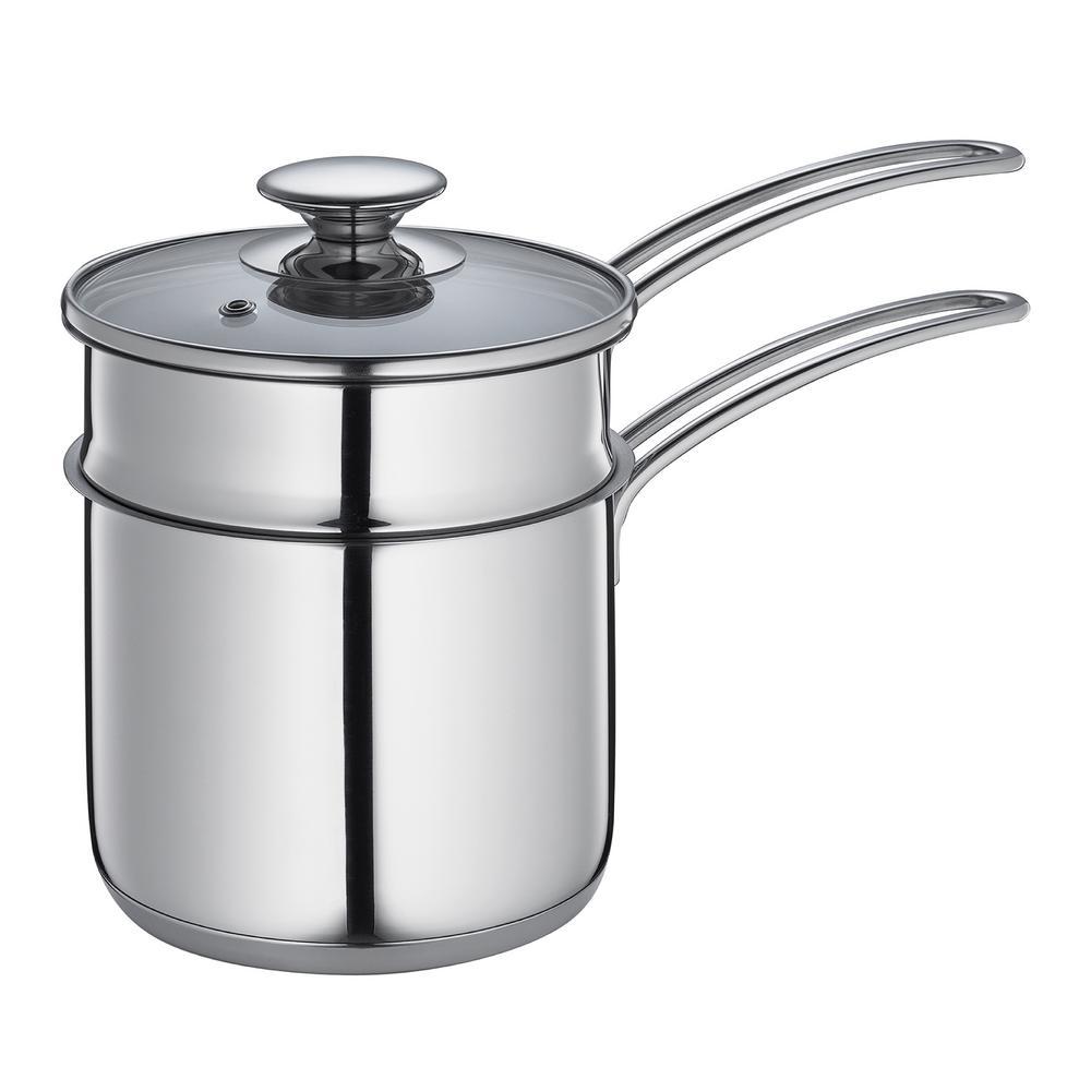 Kuchenprofi 1.6 qt. Stainless Steel Sauce Pot with Glass Lid
