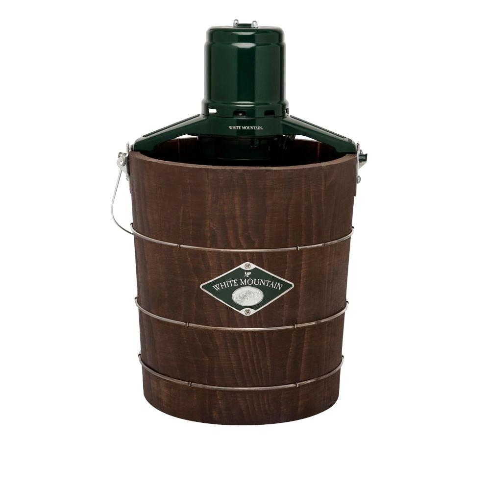 White Mountain 4 Qt. Green and Brown Electric Ice Cream Maker, Green & Brown White Mountain 4 Qt. Green and Brown Electric Ice Cream Maker, Green & Brown