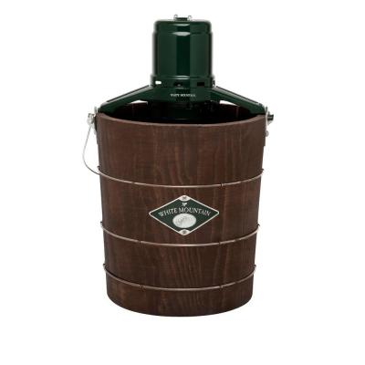 4 Qt. Green and Brown Electric Ice Cream Maker