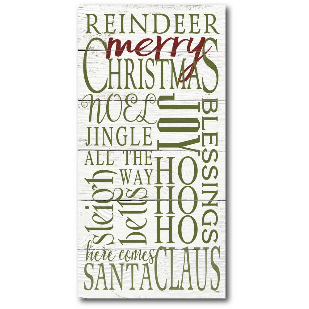 Courtside Market Merry Christmas II 12 in. x 24 in. Gallery-Wrapped Canvas Wall Art, Multi Color was $70.0 now $38.93 (44.0% off)