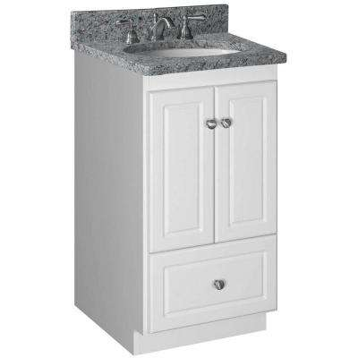 Ultraline 18 in. W x 21 in. D x 34.5 in. H Vanity Cabinet Only in Satin White