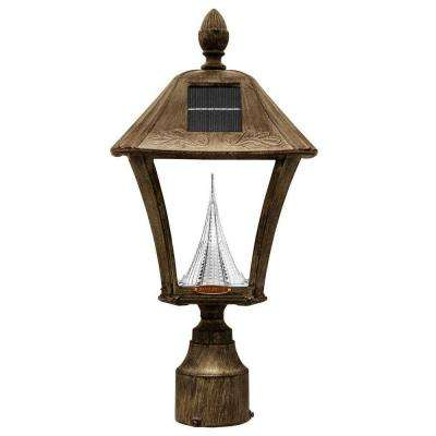 Baytown Solar Weathered Bronze Outdoor Post/Wall Light with Bright/Warm-White LEDs