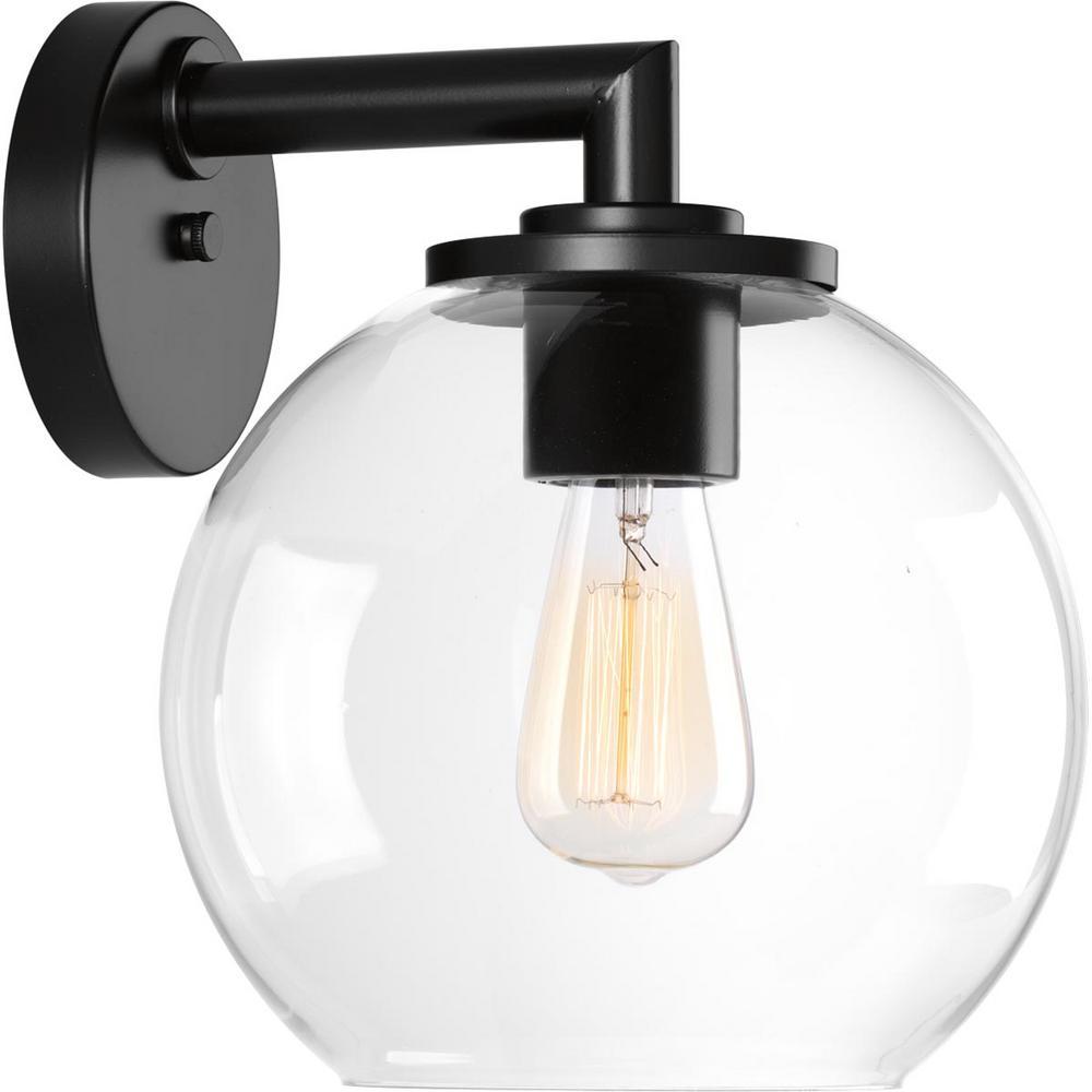 Globe Lanterns Collection 1-Light Black Outdoor Wall Mount Lantern