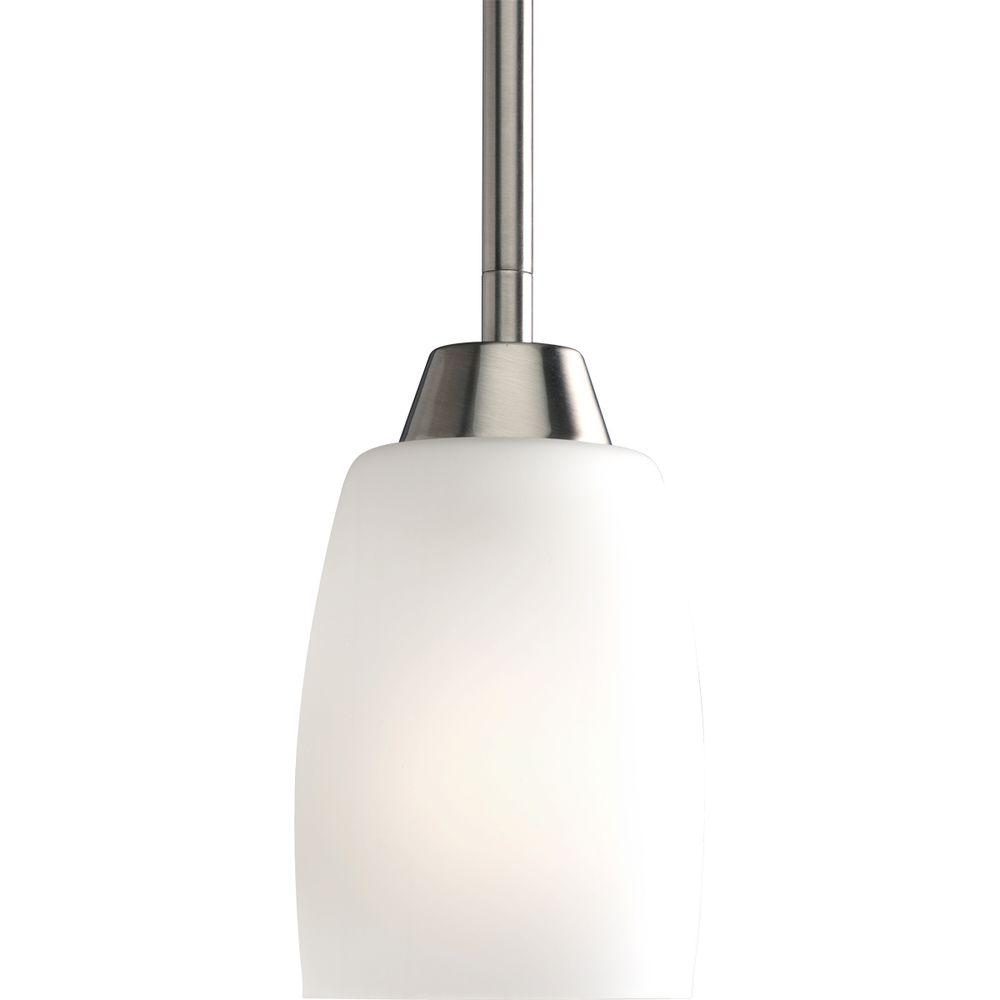 Progress Lighting Wisten 4 In 1 Light Brushed Nickel Mini Pendant With Etched Gl Shade