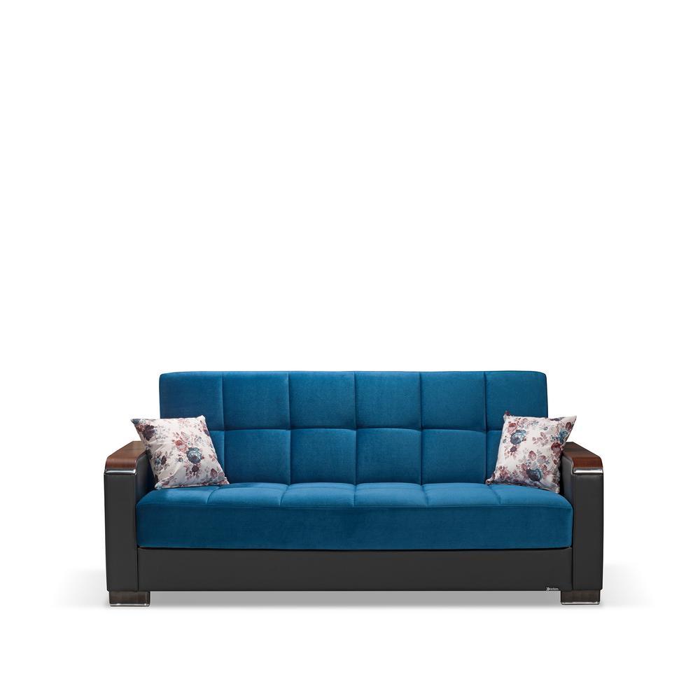 Microfiber - Blue - Sofas & Loveseats - Living Room ...