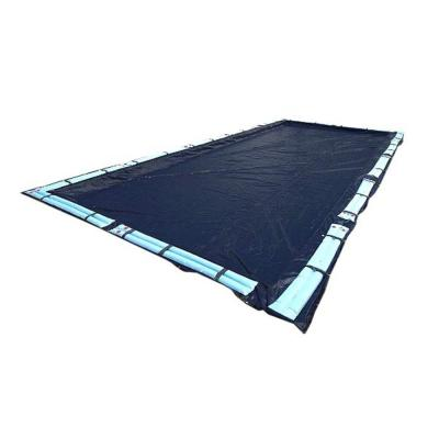 20 ft. x 40 ft. Rectangular Dark Blue In-Ground Swimming Pool Winter Cover with Water Tubes
