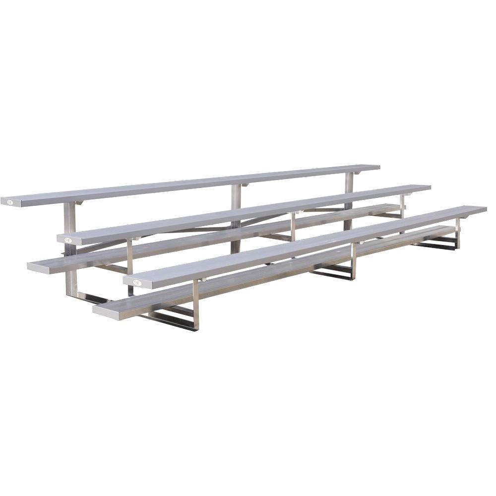Ultra Play 15 ft. 3-Row Tip N' Roll Aluminum Bleacher Frame