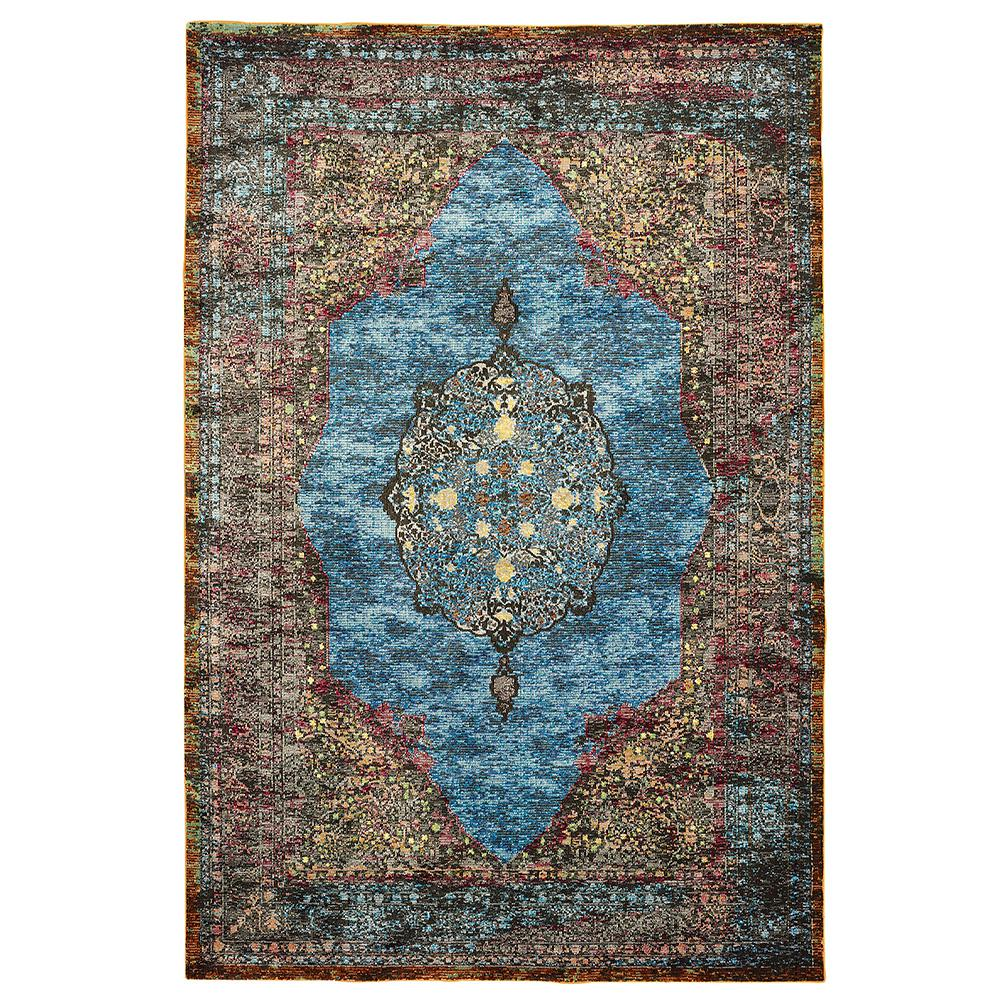 Gala Turquoise Multi 9 ft. x 12 ft. Indoor Area Rug