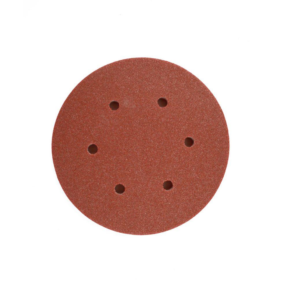 DIABLO 6 in. 60-Grit Random Orbital Sanding Disc with Hook and ...