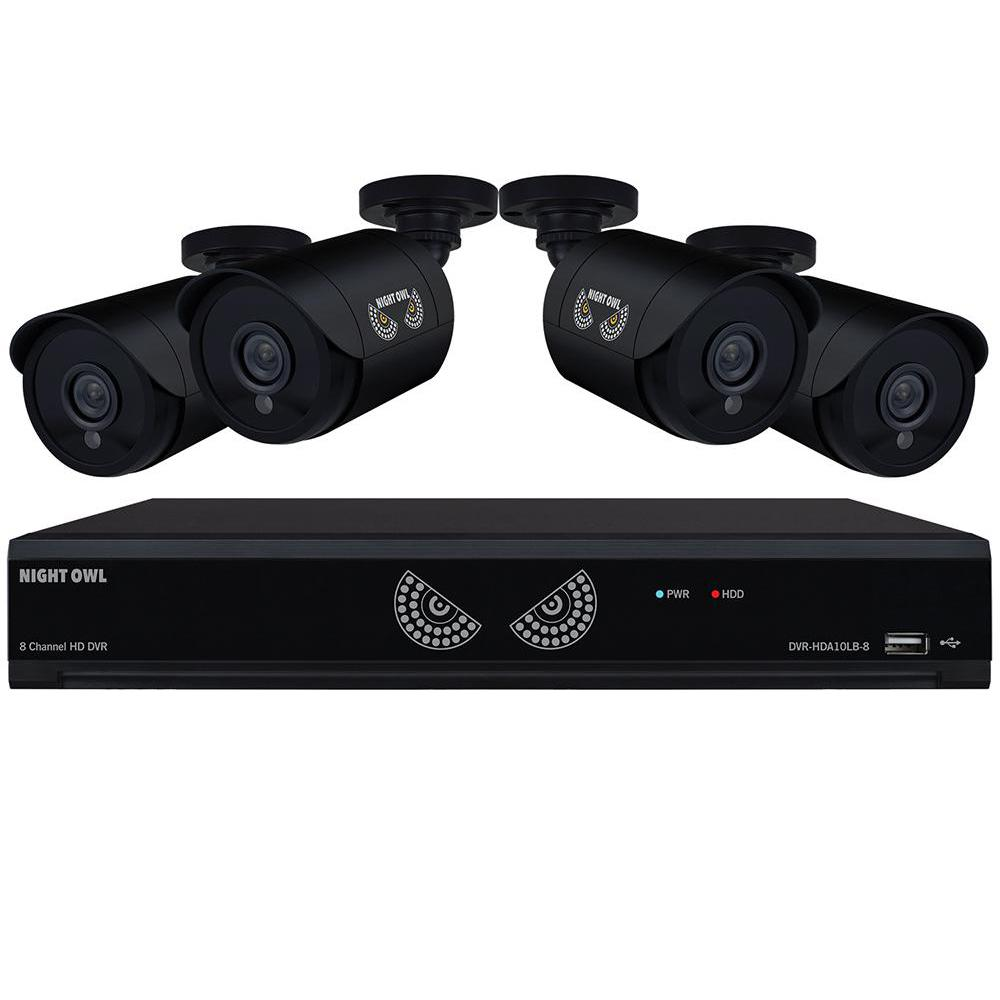 8-Channel 1080 Lite 1TB Surveillance DVR with 4 x 720p Cameras