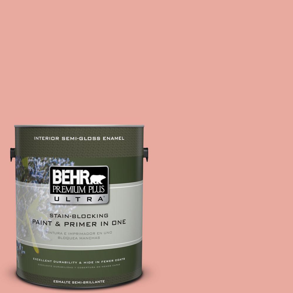 BEHR Premium Plus Ultra 1-gal. #M170-4 Passion Fruit Punch Semi-Gloss Enamel Interior Paint