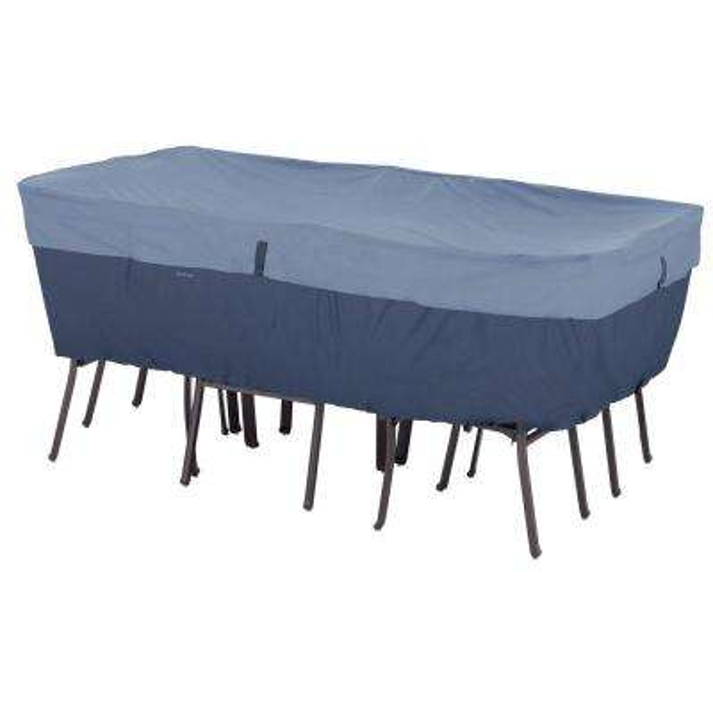 Belltown Medium Skyline Blue Rectangle/Oval Table And Patio Chair Set Cover