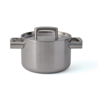 Ron 3.2 Qt. Stainless Steel 5-Ply Casserole with Lid