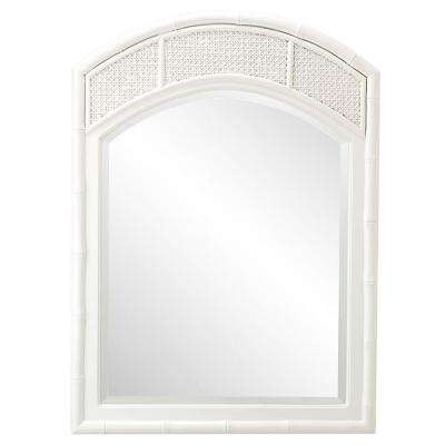 Julia 36 in. H x 26 in. W Arched Mirror in White Frame-DISCONTINUED