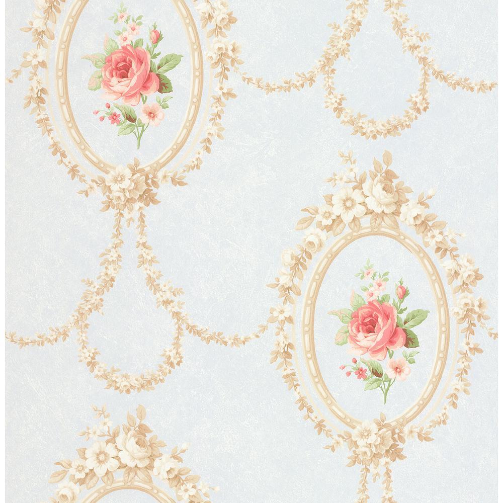 Gabriella Cream Floral Cameo Wallpaper