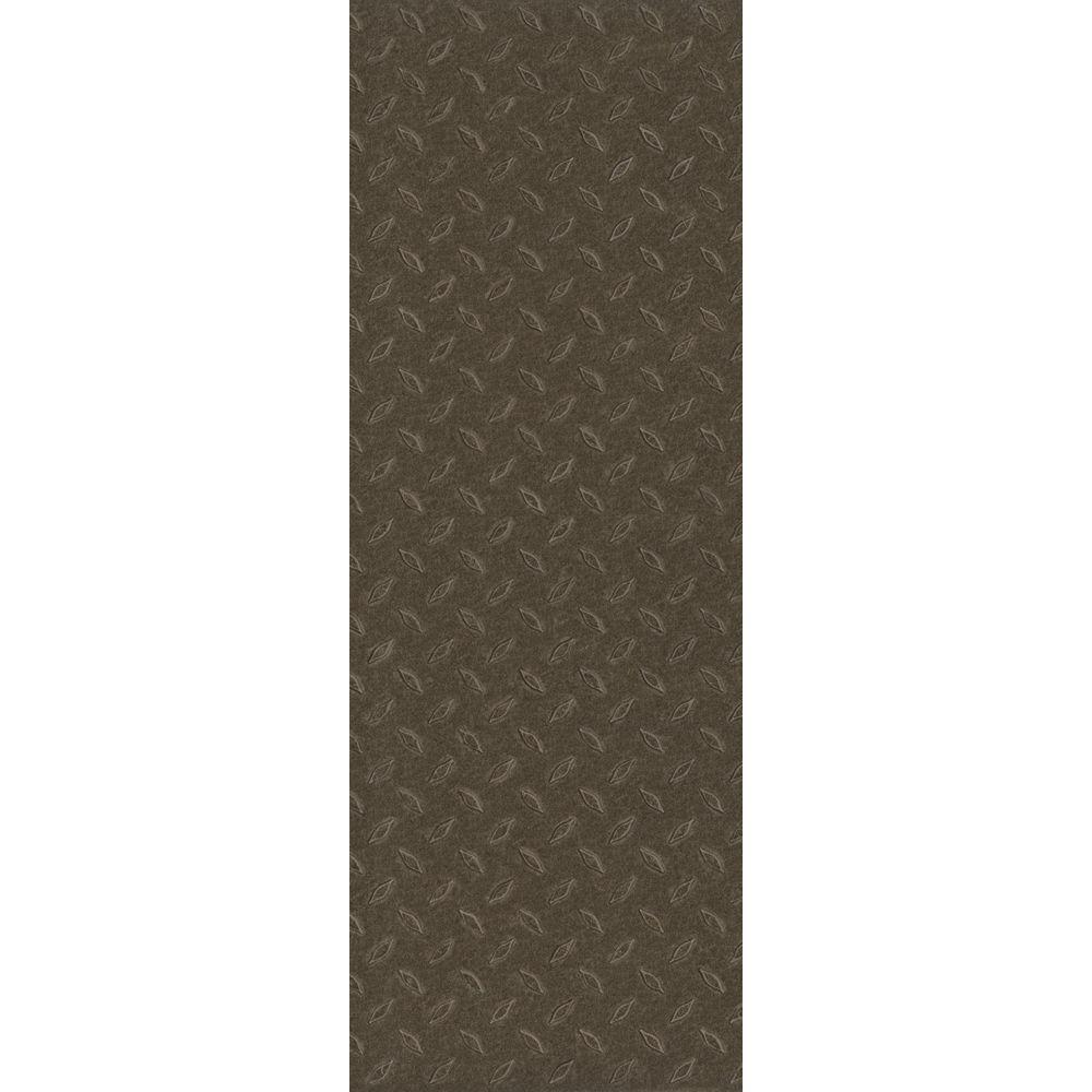 TrafficMASTER Allure Commercial 12 in. x 36 in. Stamped Steel Chocolate Vinyl Flooring (24 sq. ft. / case)