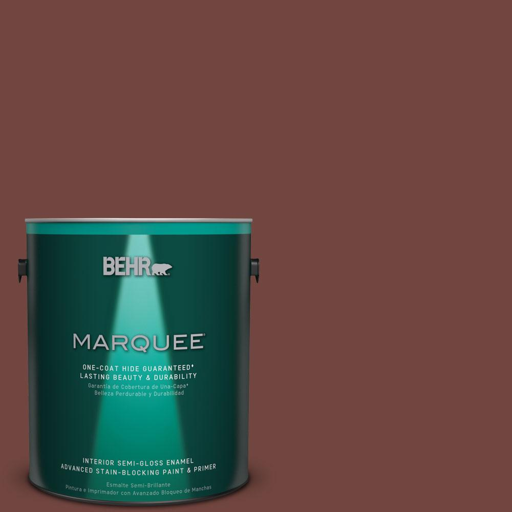 Behr Marquee 1 Gal Mq1 19 Dressed To Impress One Coat Hide Semi Gloss Enamel Interior Paint And Primer In One 345301 The Home Depot