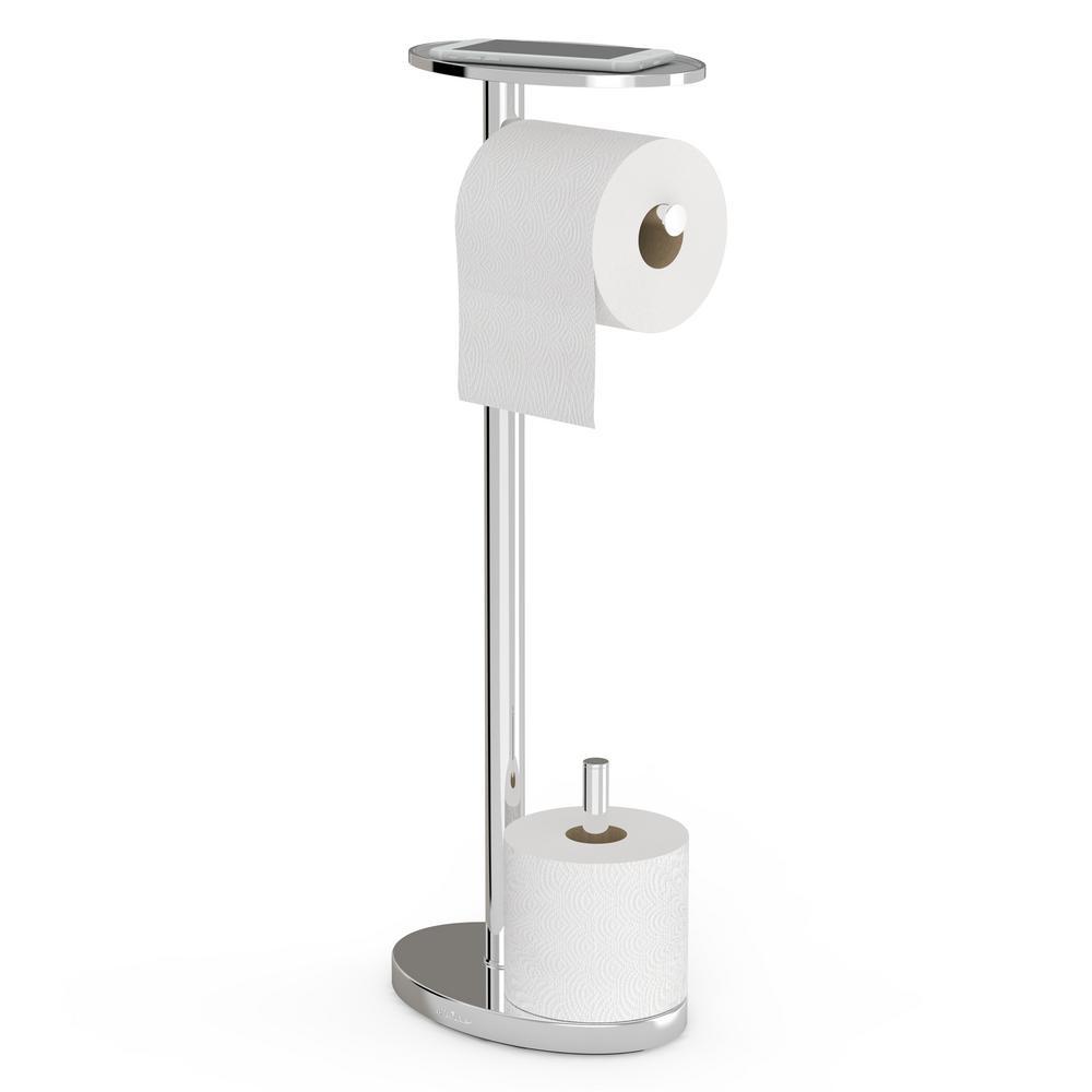 BetterLiving Better Living Lovo Toilet Caddy in Chrome, Grey