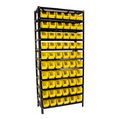 54-5 16 in. x 30-3 16 in. x 12 in. 60 Bin Parts Rack