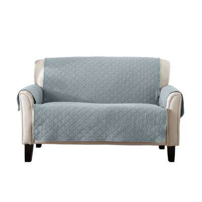 Laurina Collection Blue Dust Stonewashed Reversible Loveseat Furniture Protector