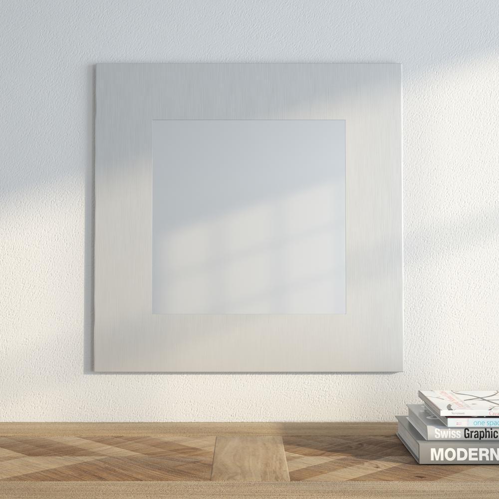 Muro 13 3/4 in. x 13 3/4 in. Modern Framed Mirror
