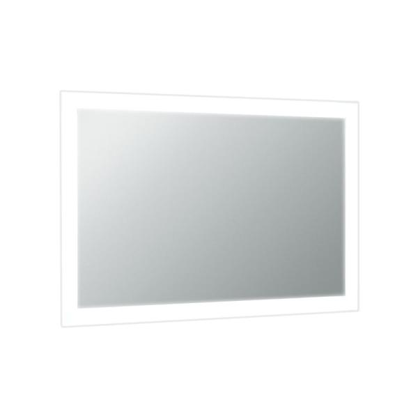 Lite 35 in. W x 25 in. H Framed Rectangular Bathroom Vanity Mirror in Clear