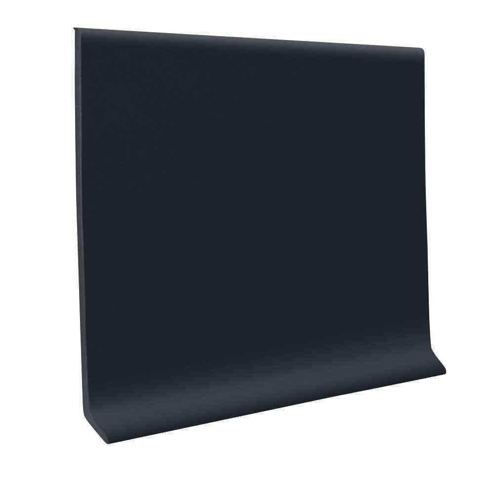 Roppe Self Stick Black 4 In X 20 Ft X 0 080 In Vinyl