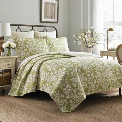 Rowland 3-Piece Green King Quilt Set