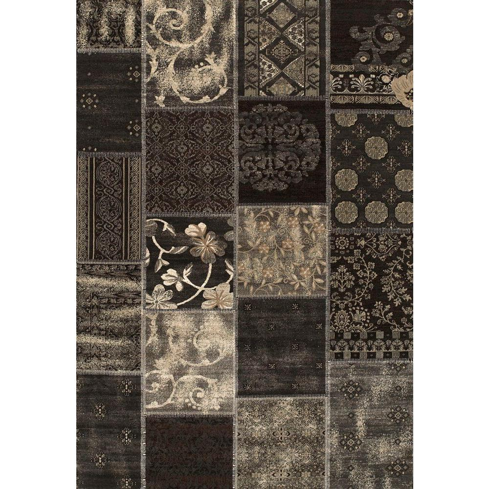 United Weavers Paris Black 7 ft. 10 in. x 10 ft. 6 in. Area Rug