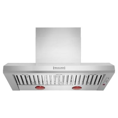 48 in. 585-1170 CFM Commercial-Style Wall-Mount Canopy Range Hood with Light in Stainless Steel