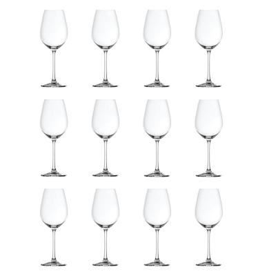 12-Piece Red and White Wine Glass Bundle in Clear