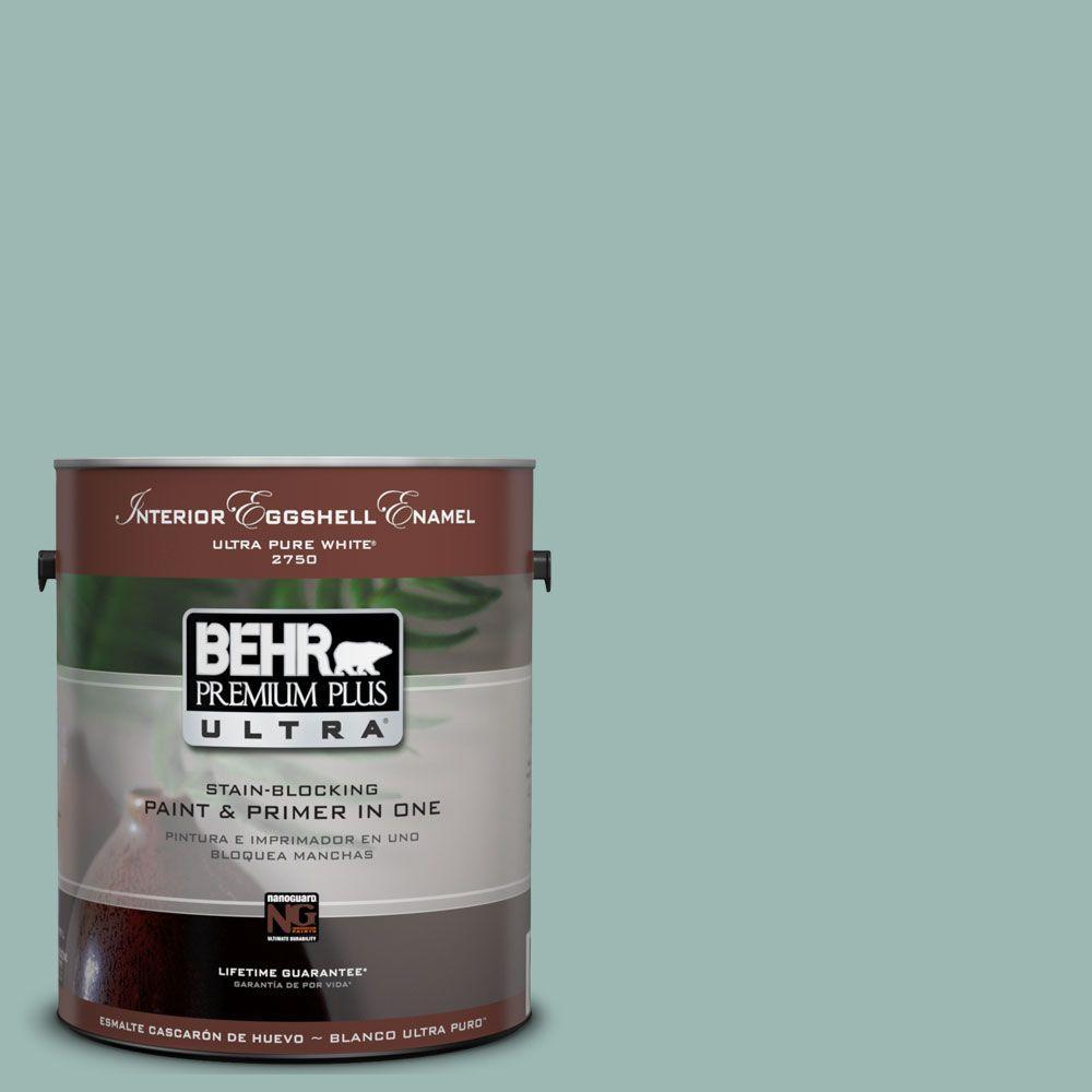 BEHR Premium Plus Ultra 1-Gal. #UL220-5 Opal Silk Interior Eggshell Enamel Paint