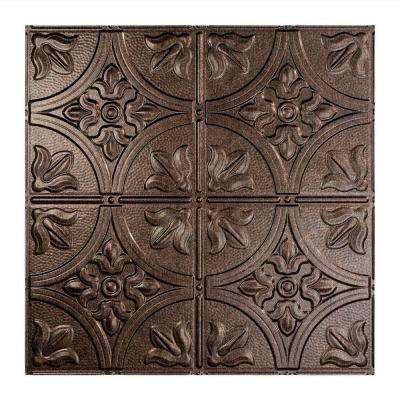 Traditional 2 - 2 ft. x 2 ft. Smoked Pewter Lay-In Ceiling Tile