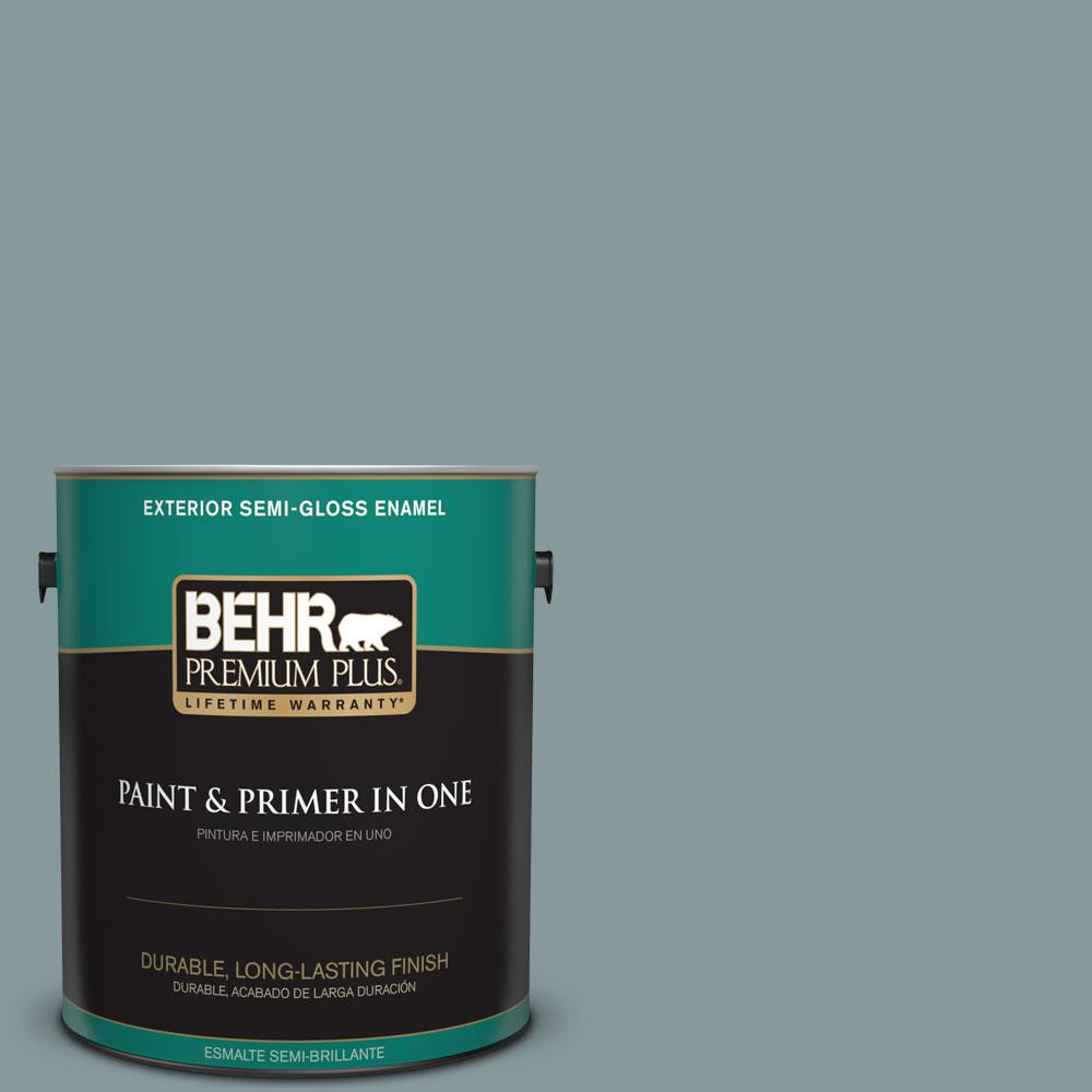 1-gal. #ECC-65-3 Teal Wave Semi-Gloss Enamel Exterior Paint