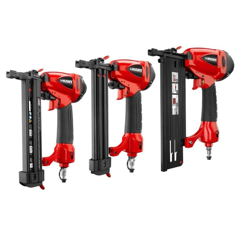 Husky 3-Piece Air Nailer and Stapler Kit-DISCONTINUED