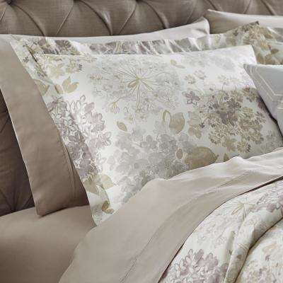 Flower Bed Linen Euro Pillow Sham