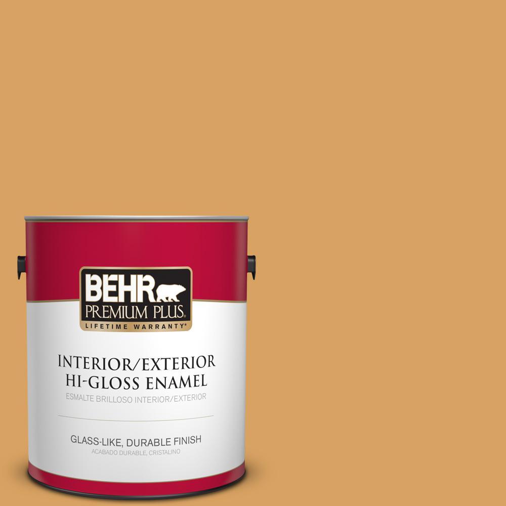 1 gal. #MQ4-10 Amber Brew Hi-Gloss Enamel Interior/Exterior Paint