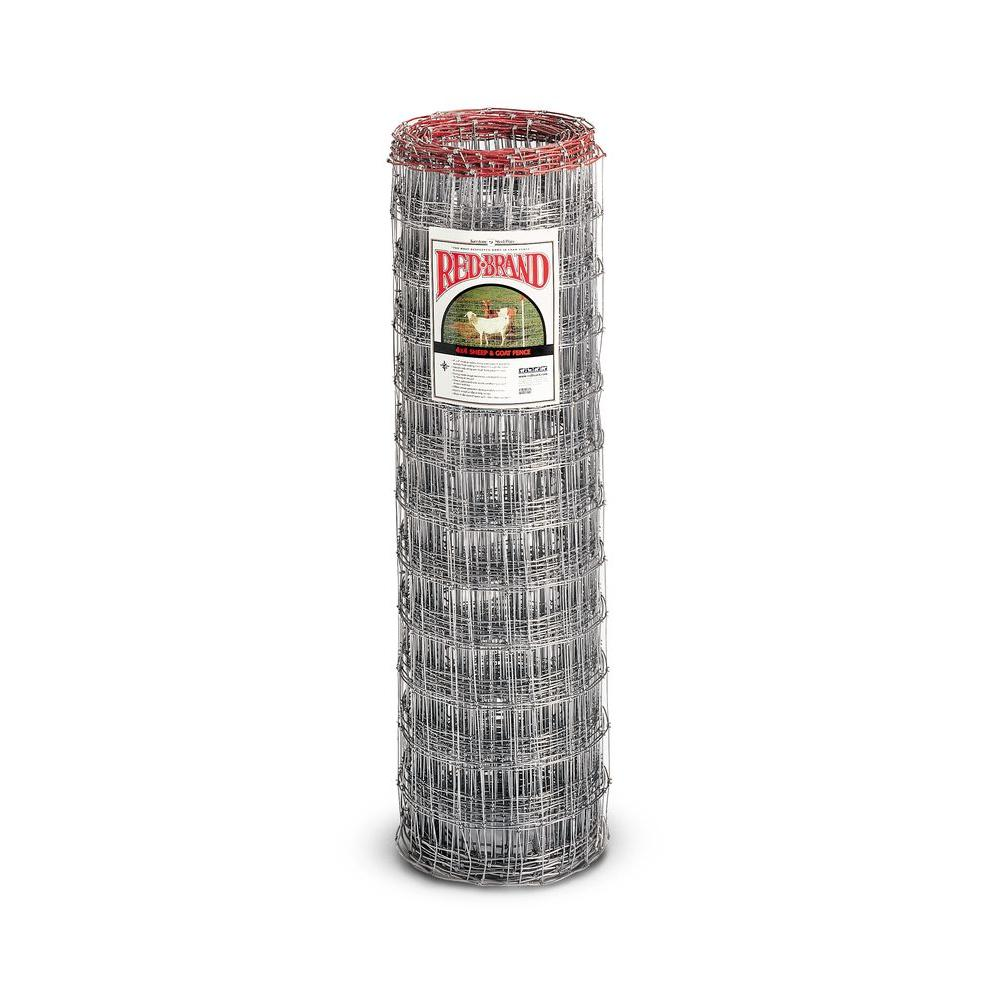 Red Brand 330 ft. 12.5-Gauge Sheep and Goat Fence-70315 - The Home Depot