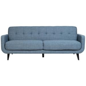Casper Mid-Century Modern Button Tufted Sofa in Light Blue ...