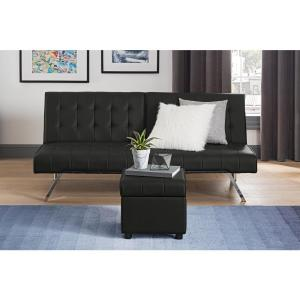 Super Dhp Eva Black Faux Leather Square Storage Ottoman De55326 Cjindustries Chair Design For Home Cjindustriesco