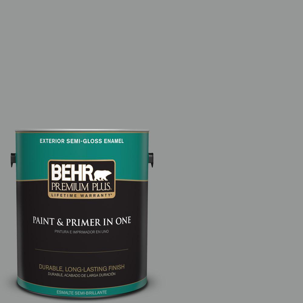 1 gal. #PPU24-19 Shark Fin Semi-Gloss Enamel Exterior Paint