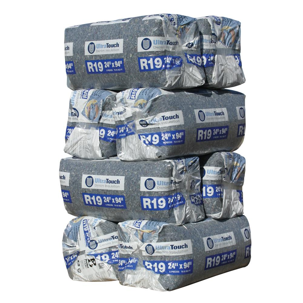 UltraTouch R-19 Denim Insulation Batts 24.25 in. x 94 in. (8-Bags)