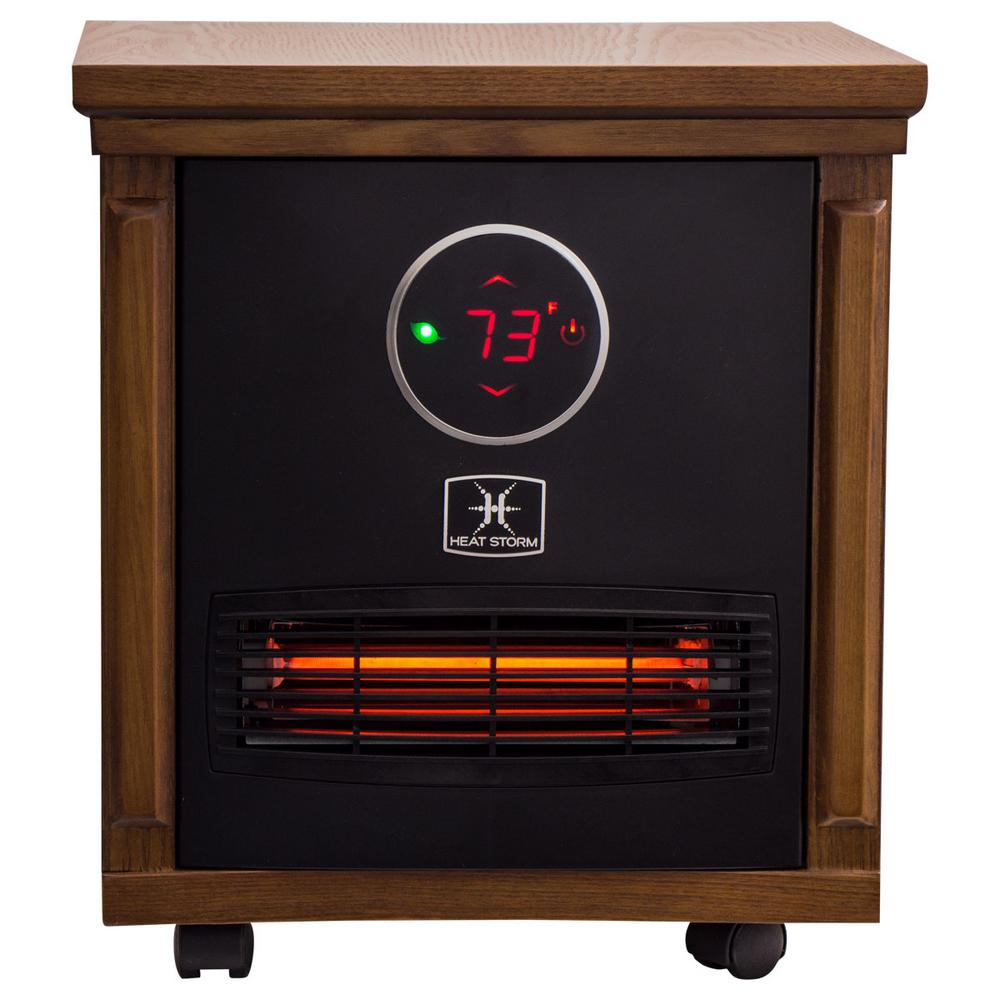 Heat Storm Smithfield Classic 1,500-Watt Infrared Quartz Portable Heater with Built-In Thermostat and Over Heat Sensor