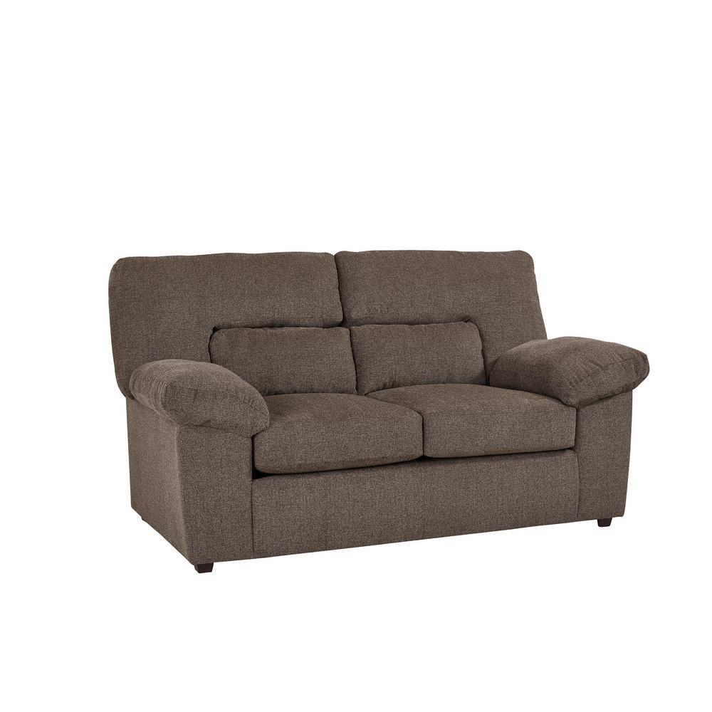 Brilliant Duke Hickory Chenille Upholstered Loveseat Short Links Chair Design For Home Short Linksinfo