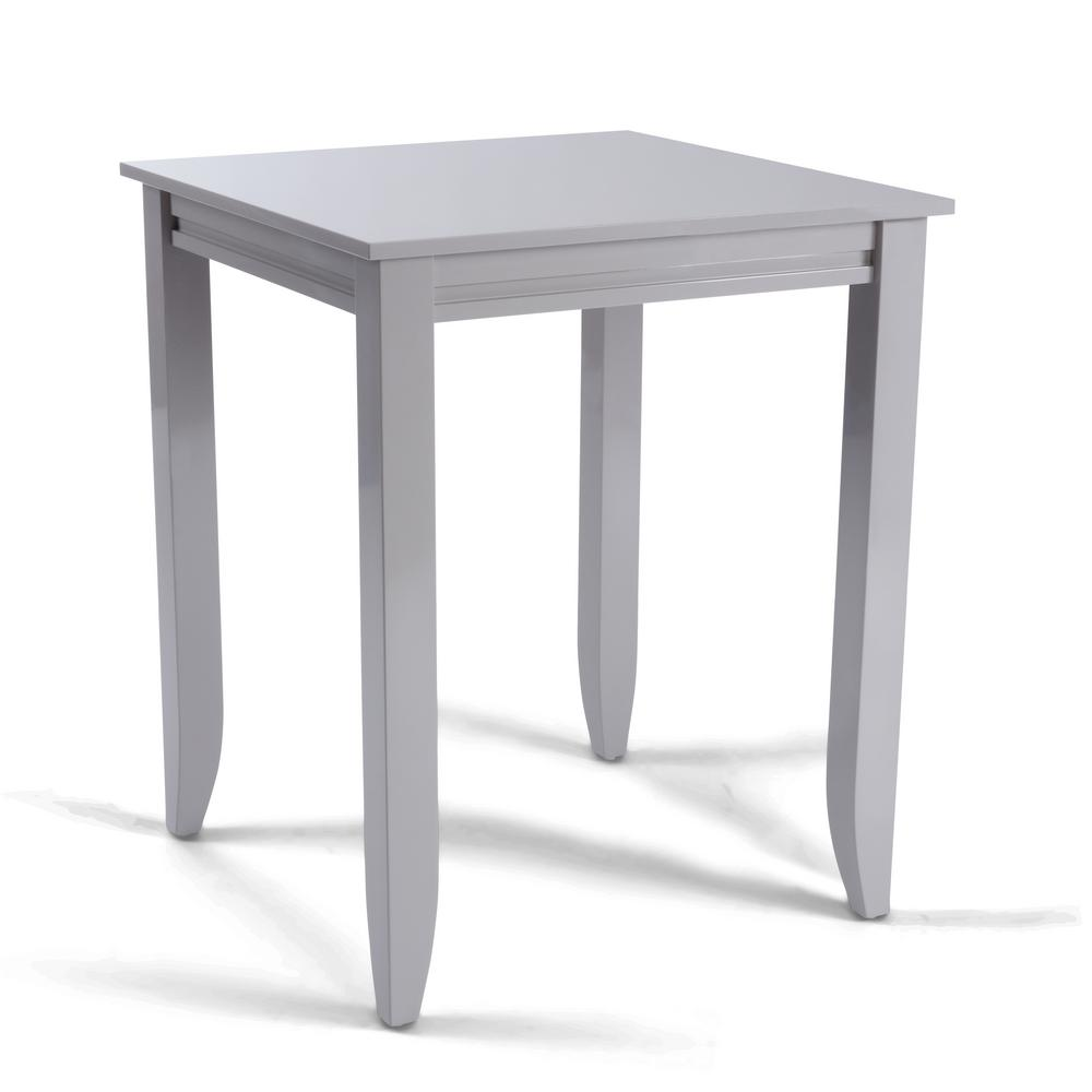 Linear Gray Square High Dining Table