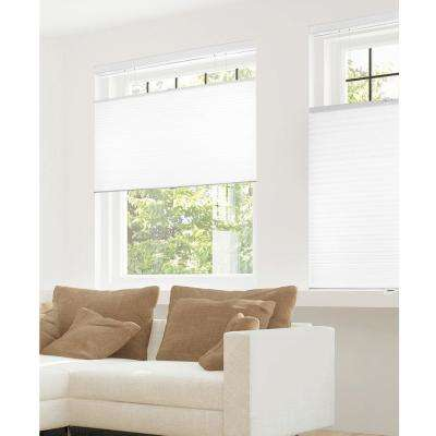 Cut-to-Width Cotton 9/16 in. Privacy and Light Filtering Cordless Cellular Shades - 24 in. W x 72 in. L