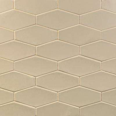 Birmingham Hexagon Fawn 4 in. x 8 in. 8mm Polished Ceramic Subway Tile (5.38 sq. ft. / box)